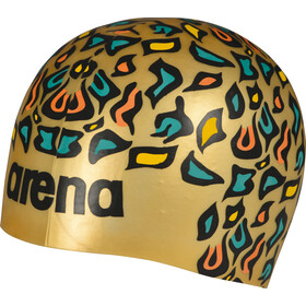 arena Poolish Moulded Bonnet de bain, animalier gold